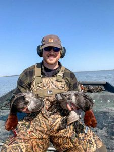 Guided airboat duck hunting in Port Aransas Texas