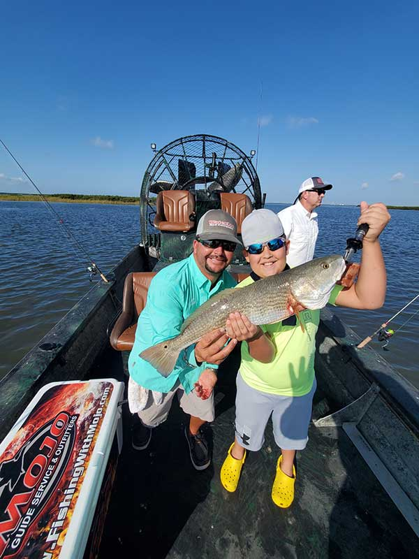 Rockport Aouth TX airboat fishing